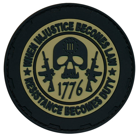 1776 Three Percenter 3D PVC Patch & Decal Combo