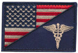 Tactical USA Flag / EMT Caduceus Morale Embroidered Patch