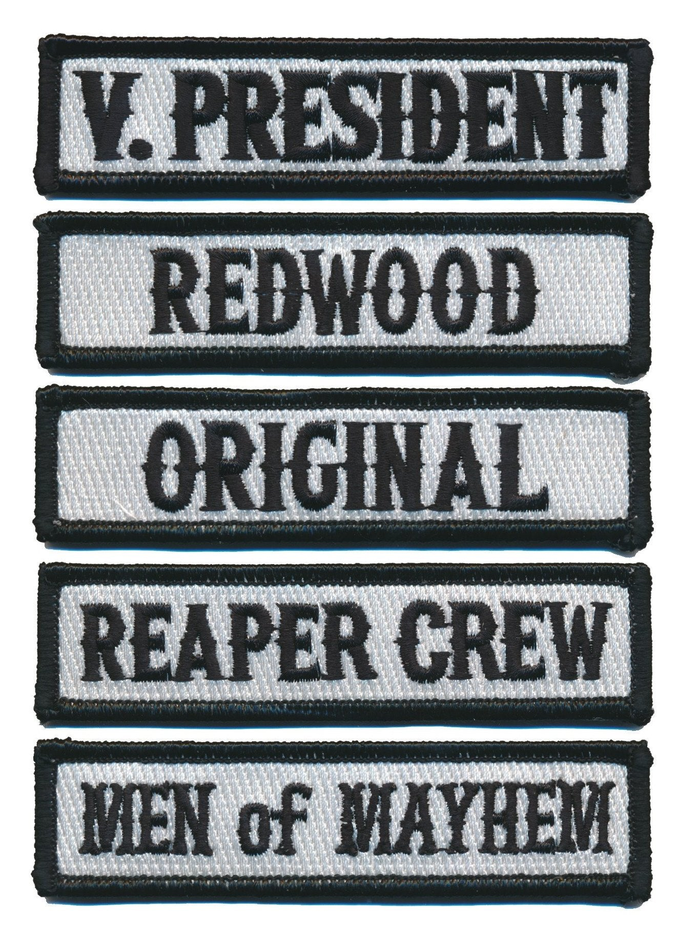 Front of Vest Outlaw Jacket Officer Motorcycle Club MC Title Patches