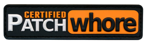 Certified Patch Whore 3D PVC Patch