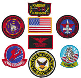 "US Navy Top Gun Fighter 8pc Embroidered Patch Set (Pete ""Maverick"" Mitchell)"