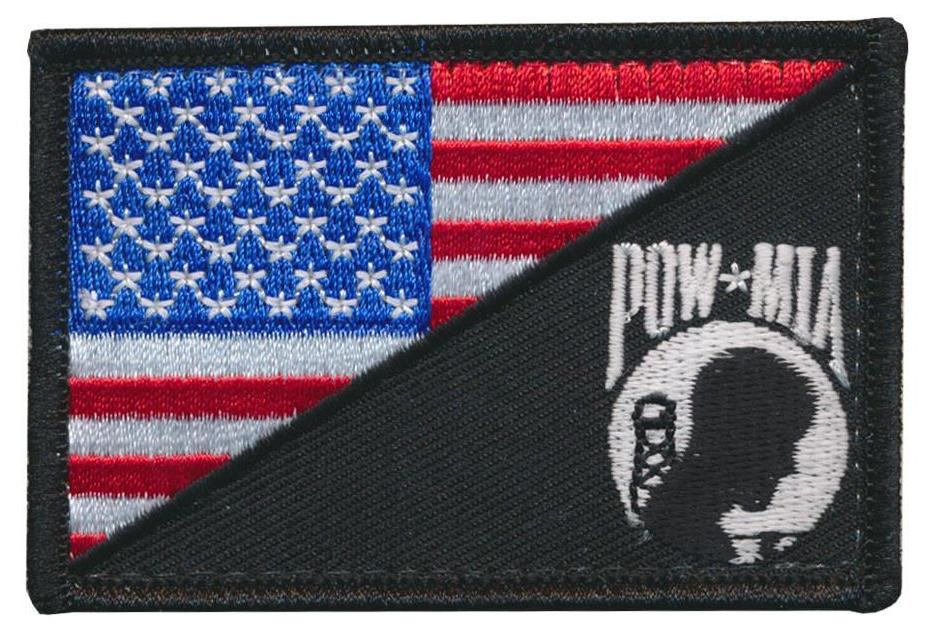 Tactical USA Flag / POW MIA Never Forget Embroidered Patch