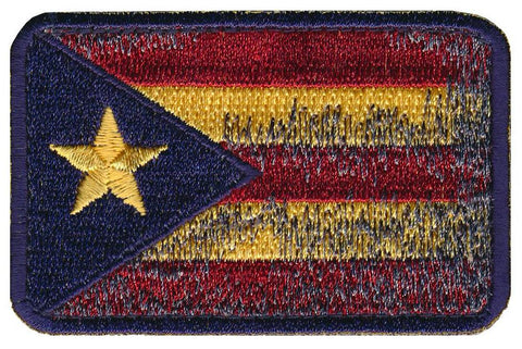 """The Brave"" Puerto Rico Flag Embroidered Patch"