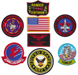 "US Navy Top Gun Fighter 8pc Embroidered Patch Set (Tom ""ICEMAN"" Kazansky)"