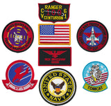 "US Navy Top Gun Fighter 8pc Embroidered Patch Set (Nick ""Goose"" Bradshaw)"