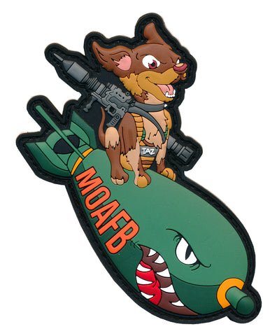 "Tactical MOAFB ""TAZ"" 3D PVC Patch & Matching Decal"