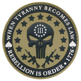 Patch Squad Men's 3D PVC Three Percent Tyranny Punisher Liberty Morale Patch