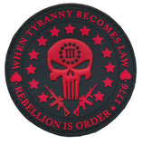 Three Percent Punisher Liberty 3D PVC Patch