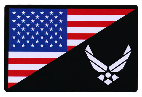 Tactical USA Flag / Air Force Flag Sticker Decal
