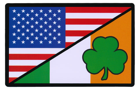 Tactical USA Flag / Irish Ireland Flag Sticker Decal