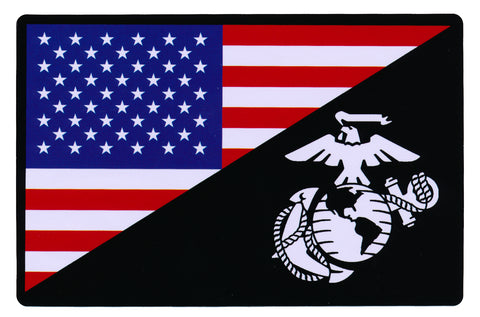 Tactical USA Flag / Marine Flag Sticker Decal