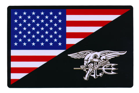 Tactical USA Flag / Navy Seal Flag Sticker Decal