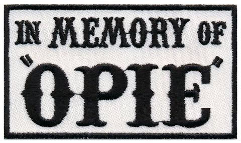 "In Memory Of Opie ""SOA"" Embroidered Patch (3.5""x 2"")"