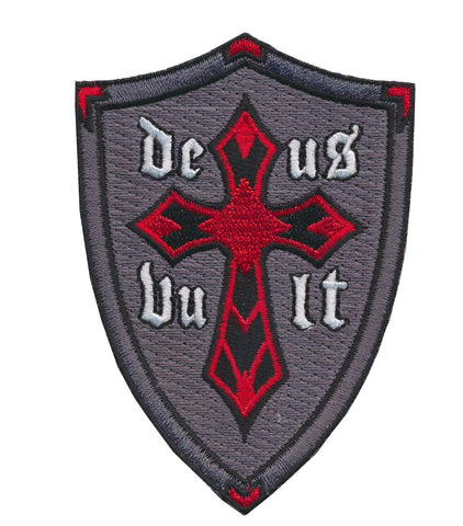 Tactical DeusVult God Wills Christian Cross the Knights Templar Embroidered Patch