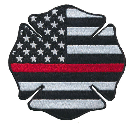 Tactical USA Flag Red Line Firefighter Courage Integrity Honor Cross Embroidered Patch