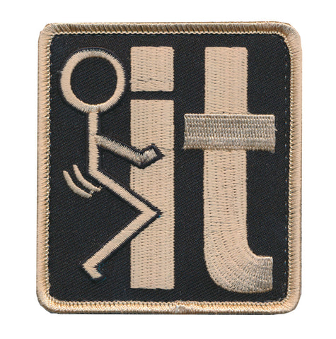 F*ck It Symbol Humping Stick Embroidered Patch