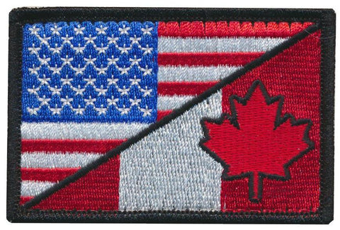 Tactical USA / Canadian Flag Embroidered Patch