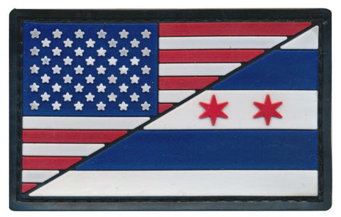Tactical USA / Chicago Flag 3D PVC Patch