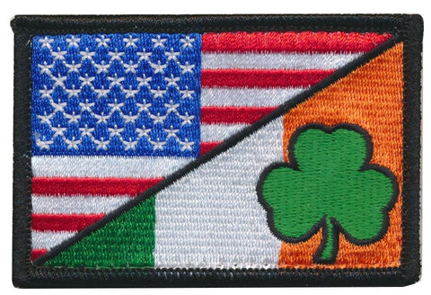 Tactical USA Flag/ Irish Ireland Flag Embroidered Patch
