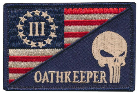 Tactical USA / Punisher Oathkeeper Flag Embroidered Patch