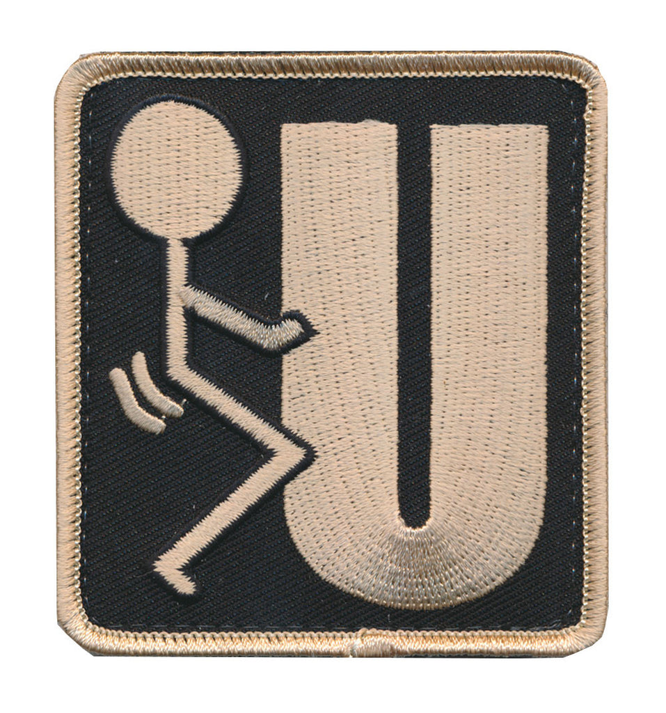 Patch Squad Men's F*** U Symbol Humping Stick Figure Word IT Military Morale Patch