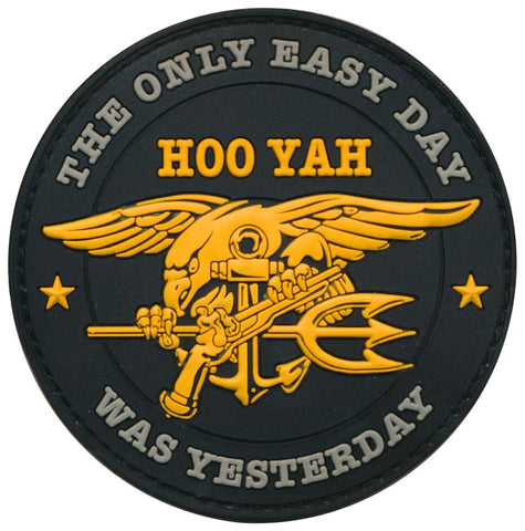 "Tactical Navy Seal ""HOO YAH"" The Only Easy Day Was Yesterday"