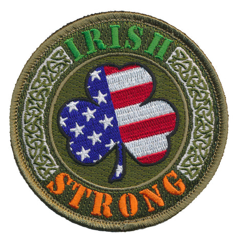 Tactical USA Flag Luck Of the Irish Strong Embroidered Patch