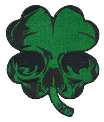 Harley Biker Luck of the Irish Clover Skull