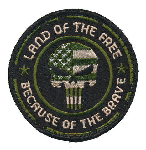 Land Of The Free Because Of The Brave Embroidered Patch