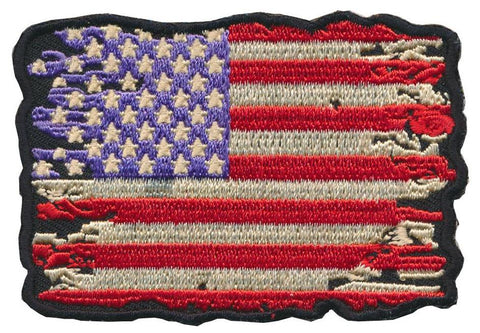 Patch Squad Men's Distressed American Flag Embroidered Patch