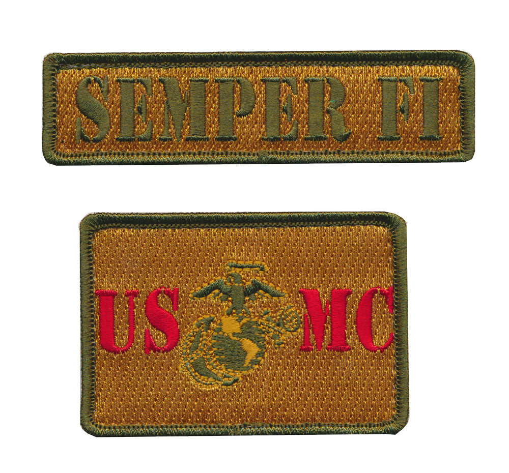 Tactical USMC US Marine Corps Set of Two Tactical Morale Embroidered Patch
