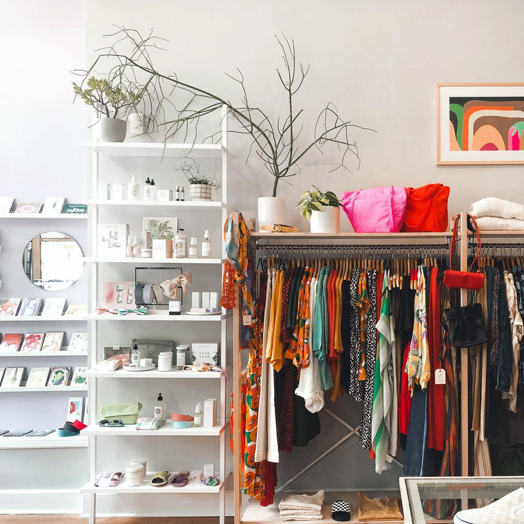 Inside display at tonlé featured retailer, Penelope's in Chicago