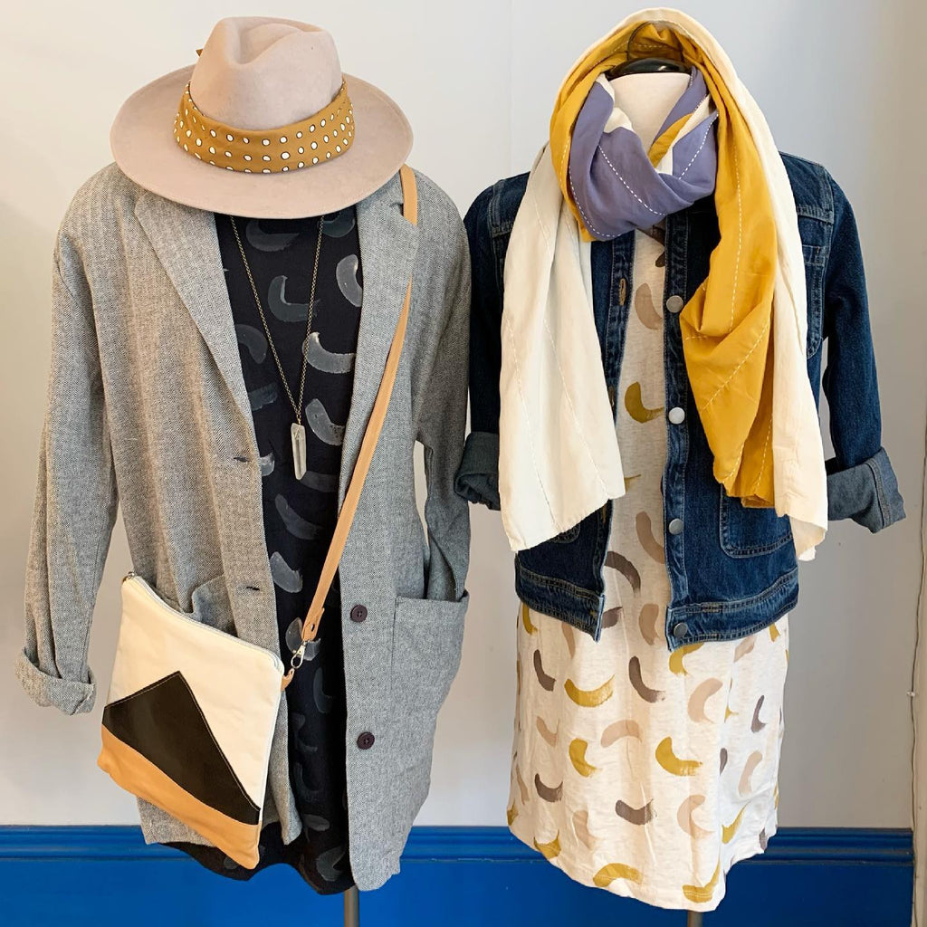 hand painted zero waste pieces from tonlé featured at sustainable boutique Spoils of Wear