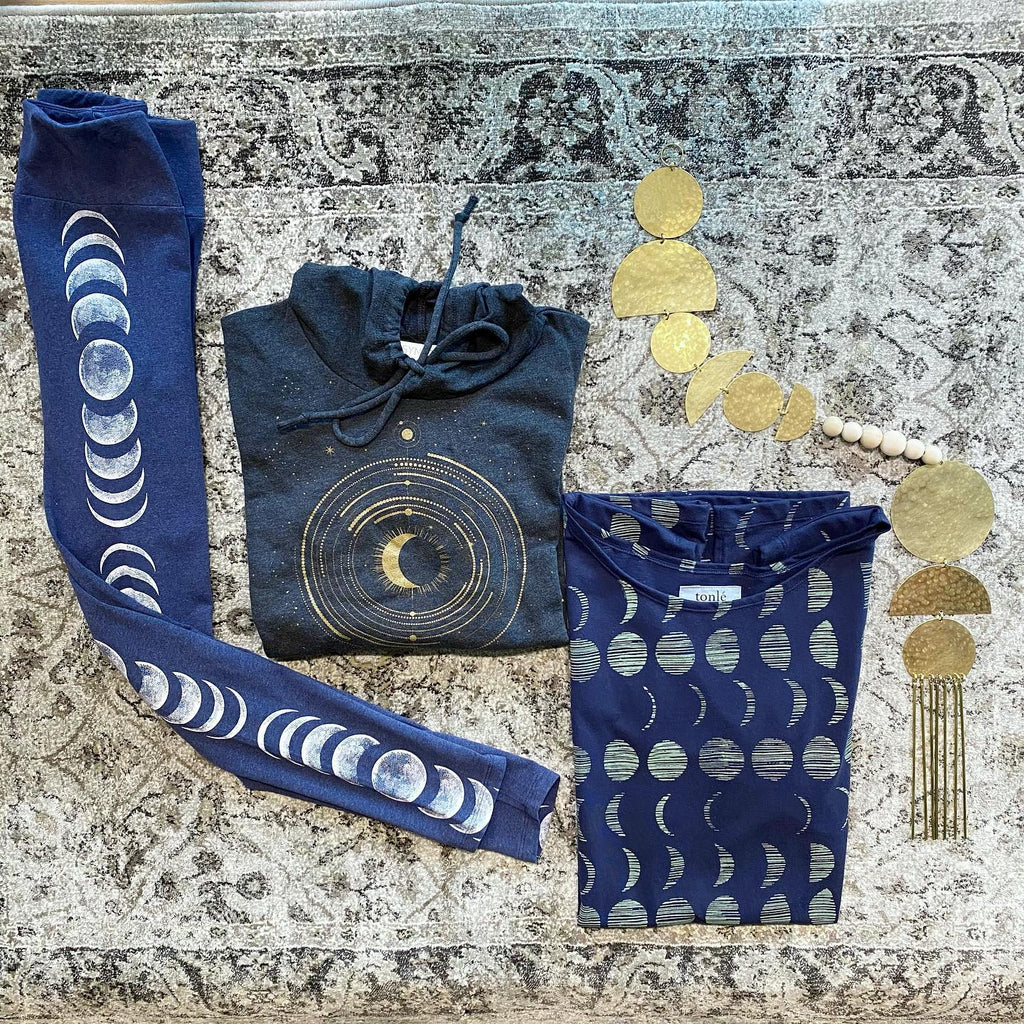 tonlé's zero waste Keang top featured with other astrologically themed products at The Golden Crane
