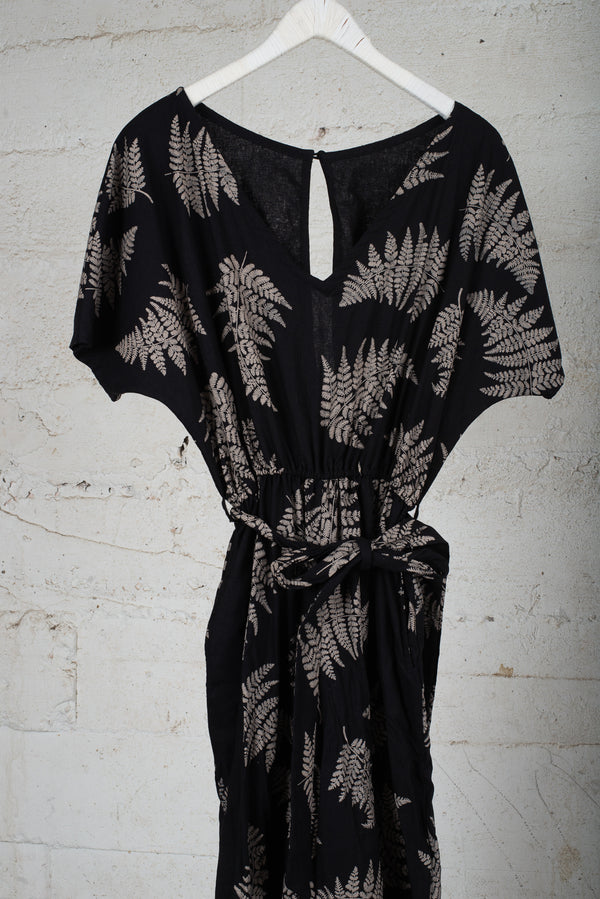 rachana jumpsuit with fern print - open closet - x-large - rarely worn