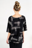 veha top - black with crosshatch