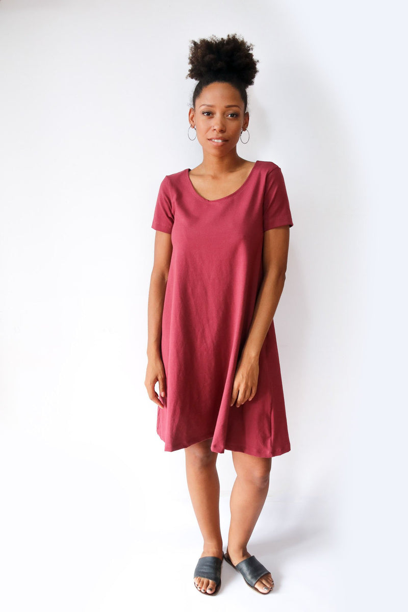 Our fair fashion A-line t-shirt dress is an easy go-to everyday look.
