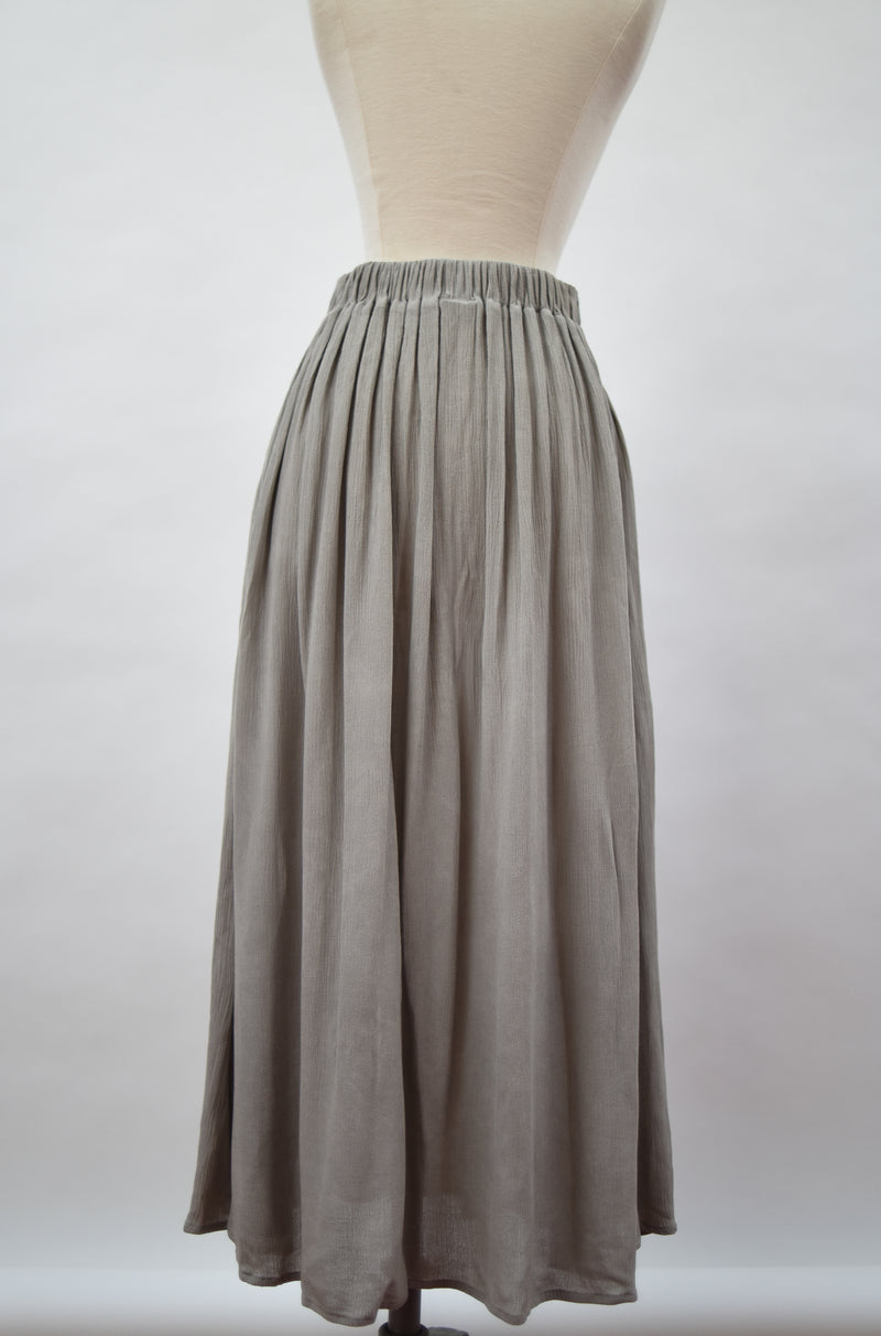 grey midi skirt - open closet - small - rarely worn