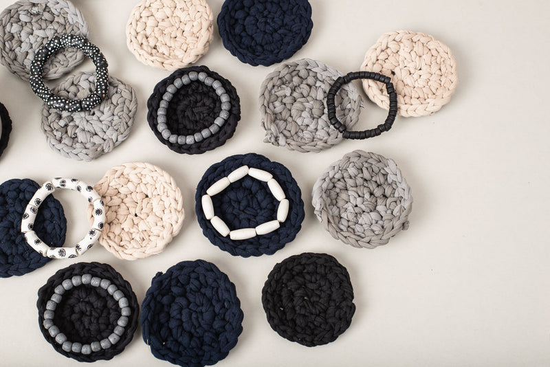 hand-crocheted coasters - set of 4