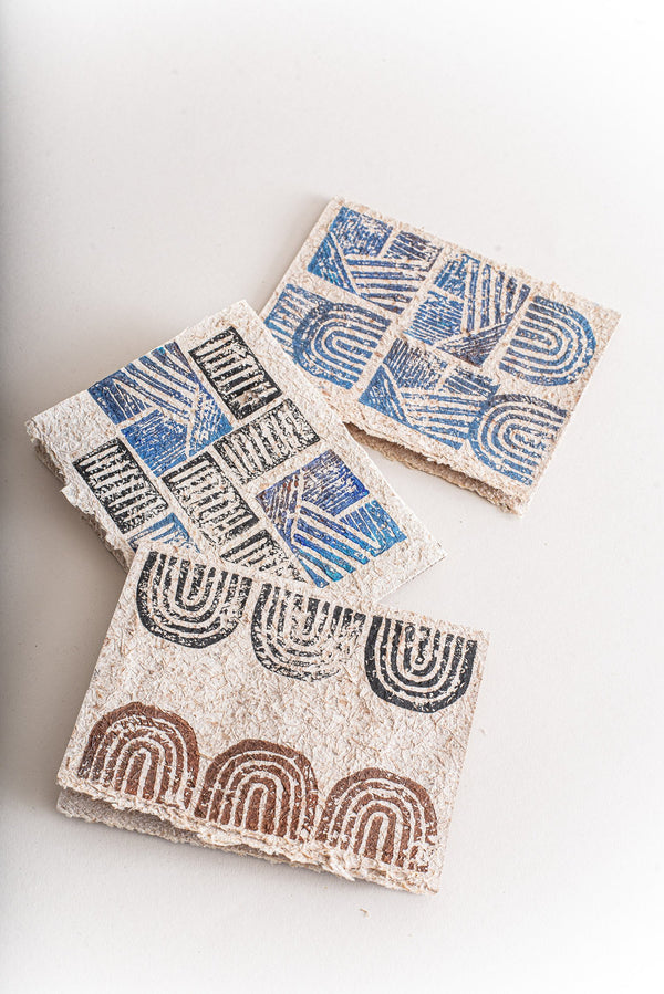 A set of three cards made from recycled paper are ideal for zero waste gift giving.