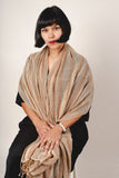 hand-woven naturally dyed cotton gauze scarf - palm stripe