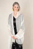 hand-woven naturally dyed cotton gauze scarf - cream