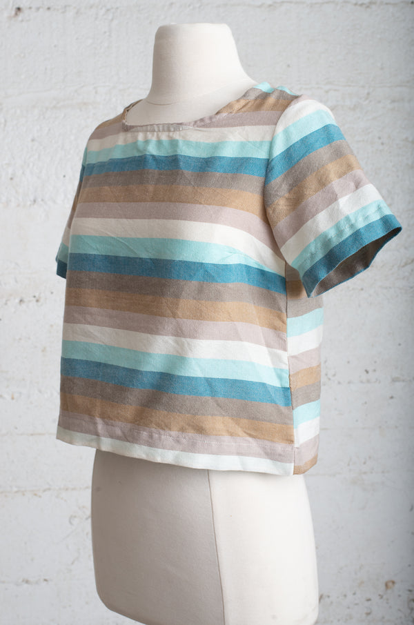 striped top - open closet - small - rarely worn