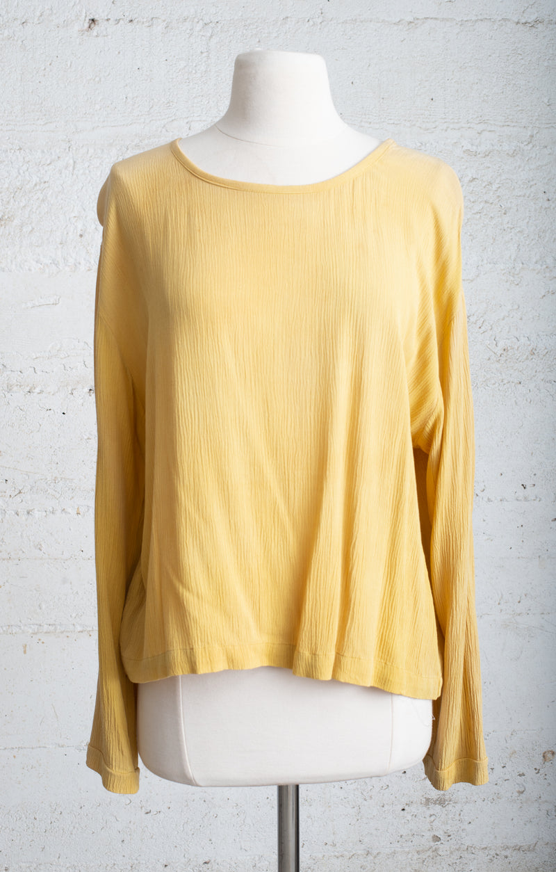 naturally dyed relaxed basic top - open closet - large - rarely worn