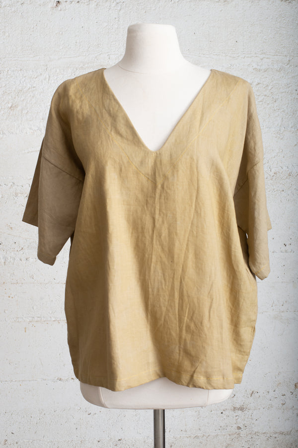 naturally dyed veha top - open closet - x-small - rarely worn
