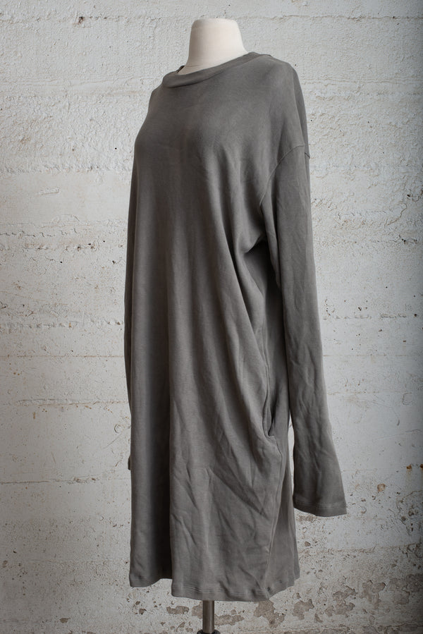 grey mock neck long sleeved dress - open closet - xx-large - rarely worn