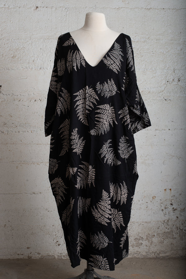 veha dress with fern print - open closet - x-large - rarely worn