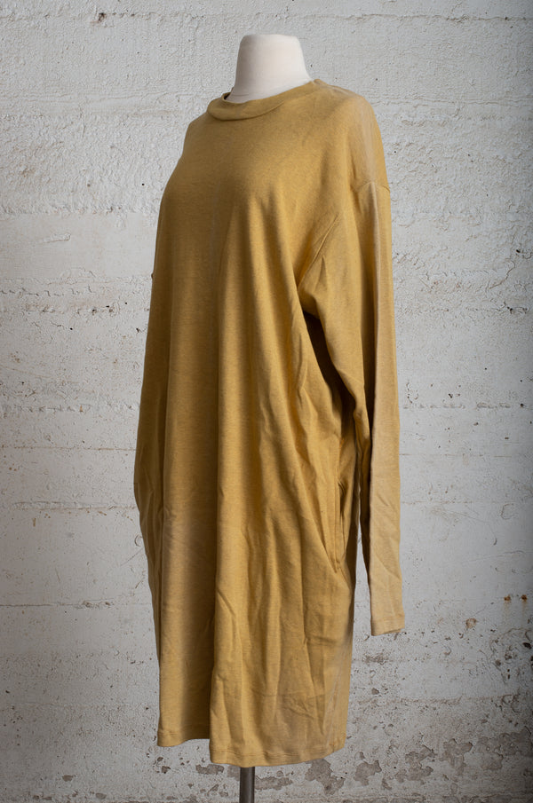 mustard mock neck long sleeved dress - open closet - xx-large - rarely worn