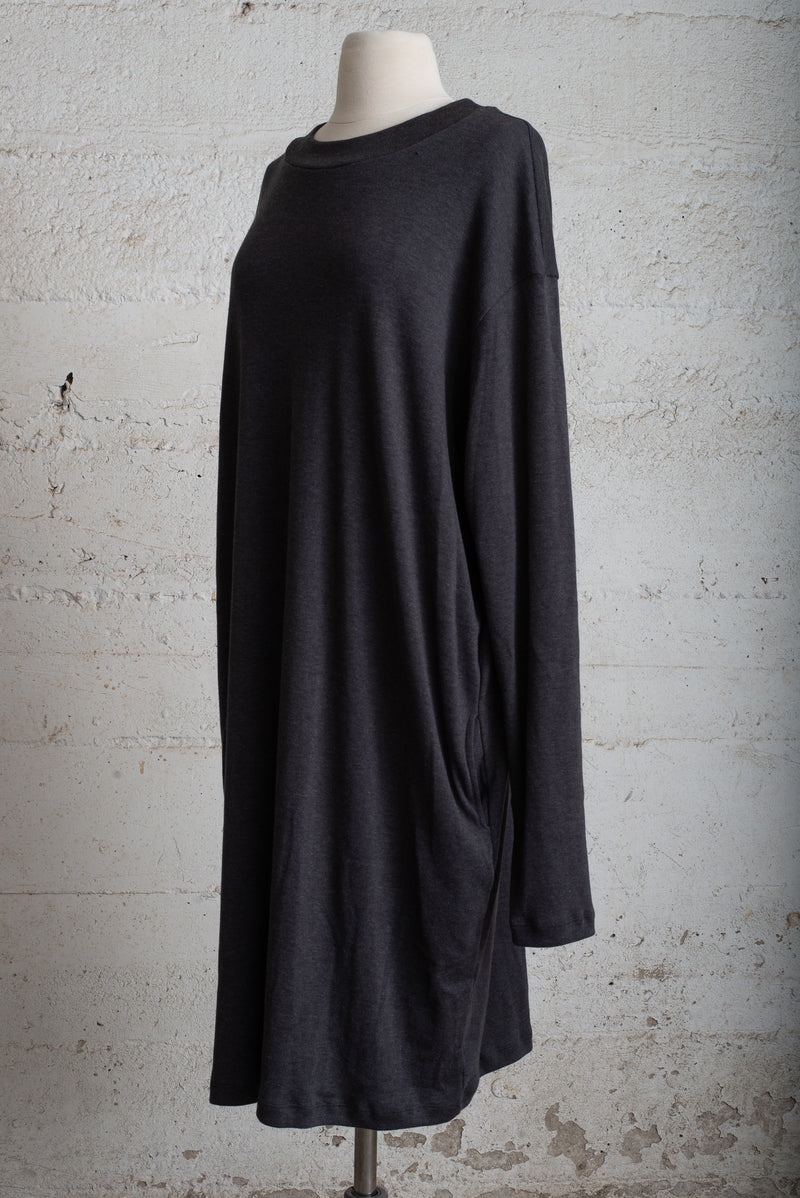 dark grey mock neck long sleeved dress - open closet - xx-large - rarely worn