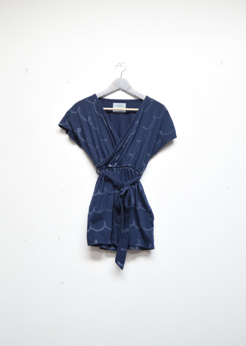 romper with whimsy print - open closet - x-small - rarely worn
